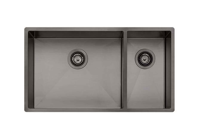 "'Spectra' SB35GM 1 and 1/2 bowl **sink** in gunmetal, $1339, from [Appliances Online](https://www.appliancesonline.com.au/product/oliveri-sb35gm-spectra-1-and-1-2-bowl-sink|target=""_blank""|rel=""nofollow"")."