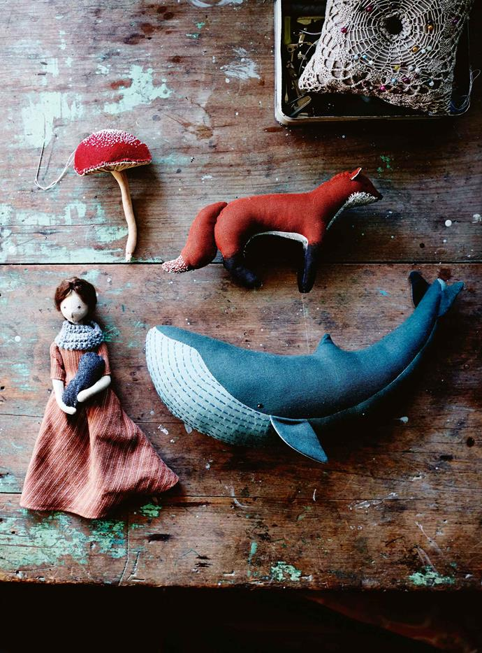 "The handmade toys Margeaux crafts. ""I love that I'm sending these dolls out to other little girls so that they can enjoy them — their mums seem to really love them too!"""
