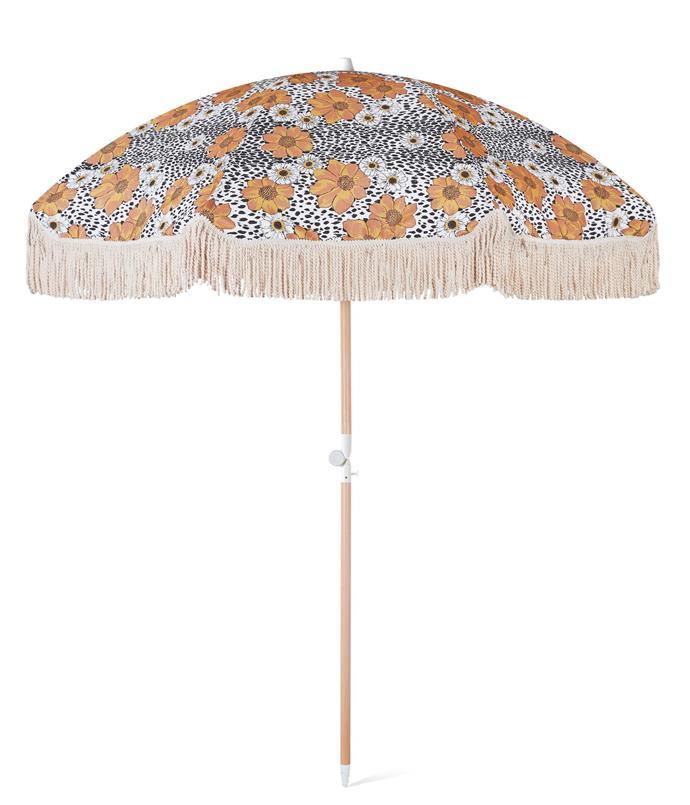 "Animal Kingdom Beach Umbrella, $249, [Sunday Supply Co](https://sundaysupply.co/products/animal-kingdom-beach-umbrella|target=""_blank""|rel=""nofollow"")"