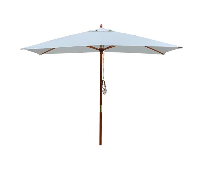 "Mimosa Woolamai Market Umbrella, $99, [Bunnings](https://www.bunnings.com.au/mimosa-woolamai-round-market-umbrella_p3192696|target=""_blank""|rel=""nofollow"")"