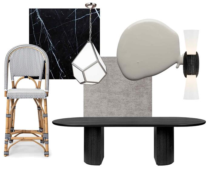"**American beauty** Shiny and sophisticated, this retro-modern look won't date. **Get the look** (clockwise from left) French bistro stool, $445, [Rustic Charm Interiors](https://rusticcharminteriors.com.au/|target=""_blank""