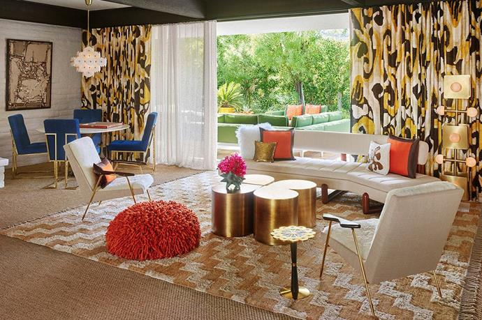 A room in the Parker Palm Springs hotel...