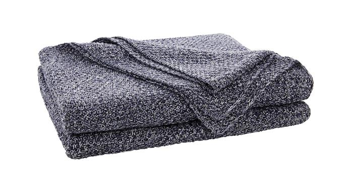 "Sheridan 'Earley' throw, $230, at [Sheridan](https://www.sheridan.com.au/earley-throw-sj06-b113-c236-749-midnight.html|target=""_blank""
