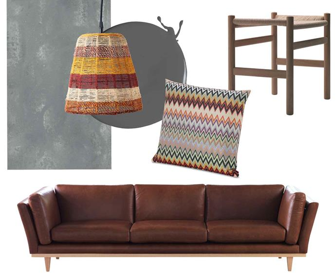 "**Surprise elements** Mix old and new pieces with an infusion of eclectic choices in complementary colours. **Get the look** (clockwise from left) Rugged Concrete surface, $900 per sq m, [Caesarstone](https://www.caesarstone.com.au/|target=""_blank""
