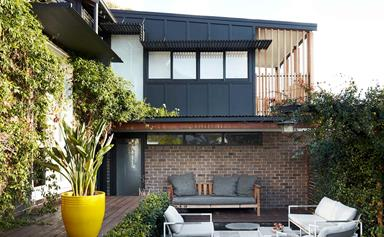 An extended California bungalow in Sydney was given a modern makeover