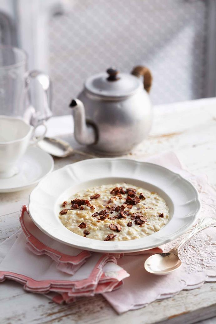 Porridge made from traditional oats is typically richer in texture and flavour.