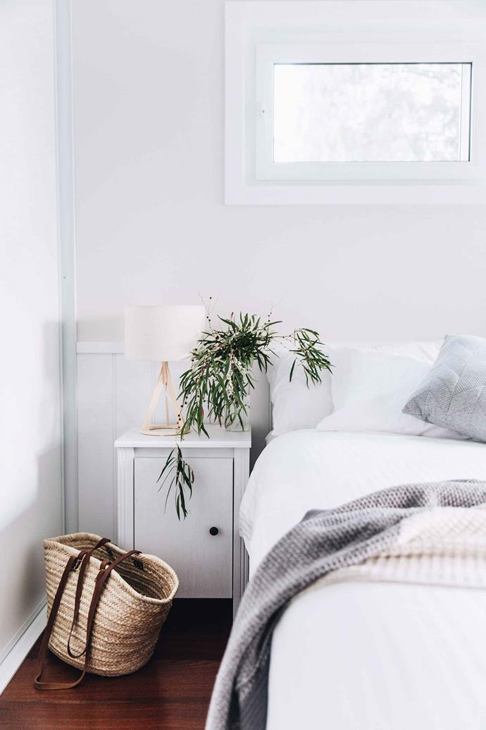 Crisp white sheets will always make a guest bedroom feel clean and fresh, say the experts.