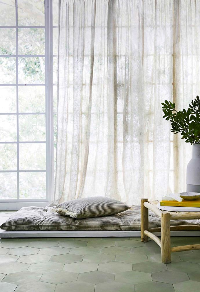 Need privacy but don't want to block out light? Go for sheer, floaty curtains in a natural fabric such as cotton or linen.