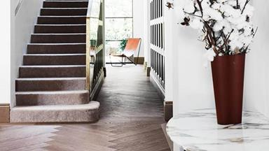 9 homes with timber herringbone floors