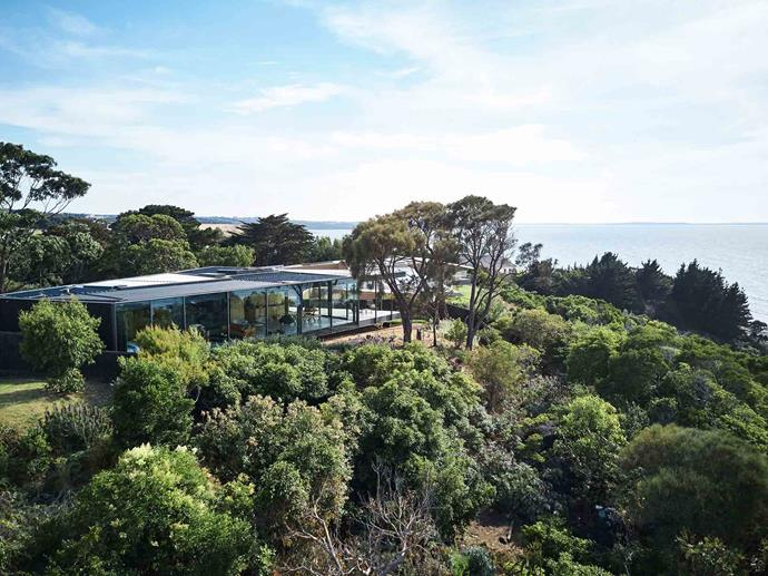 Full height glass in the living areas enhances views over the ocean.