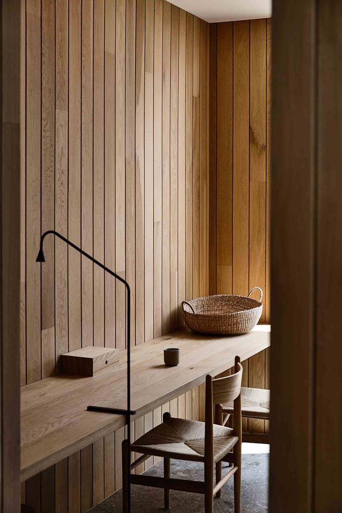 "Oak panelling gives a warm glow. Ross Stapleton, from [On the Rise Construction](https://www.facebook.com/ontheriseconstruction/|target=""_blank""