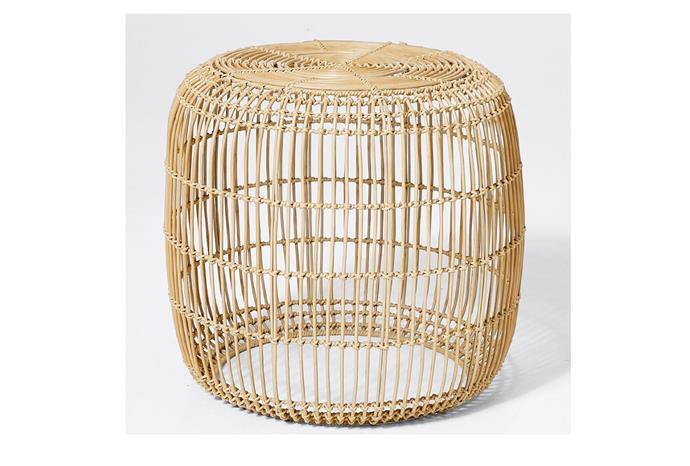 "Rattan side table, $69, at [Target](https://www.target.com.au/p/rattan-side-table/62784412|target=""_blank""