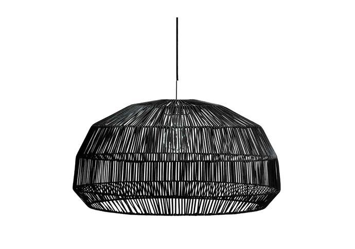 "Ay Illuminate Nama 1 black rattan pendant,  $790, at [Spence & Lyda](https://www.spenceandlyda.com.au/nama-1-black-rattan-pendant.html|target=""_blank""|rel=""nofollow"")"