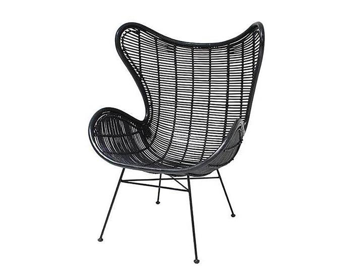 "Black rattan egg chair, $899, at [Curious Grace](https://curiousgrace.com.au/products/black-rattan-egg-chair?_pos=1&_sid=bd2385290&_ss=r|target=""_blank""