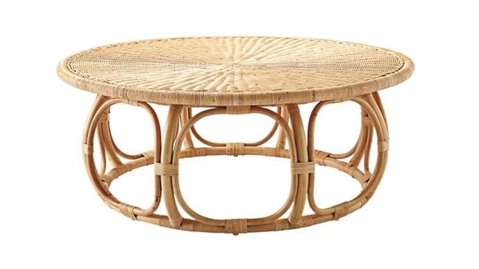 "St. Lucia rattan coffee table, $599, at [Zanui](https://www.zanui.com.au/St-Lucia-Rattan-Coffee-Table-168146.html|target=""_blank""
