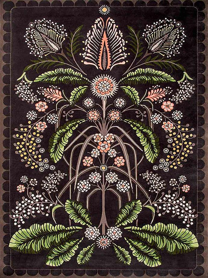 """'Wattle Delight' **rug** by Designer Rugs x  House of Heras, $POA, from [Designer Rugs](http://www.designerrugs.com.au/rug-collections/designer-collaborations/house-of-heras/wattle-delight/