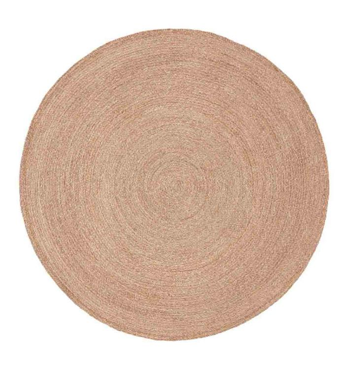 """'HERSOM' braided round **rug**, $199, from [IKEA](https://fave.co/35dJ6op