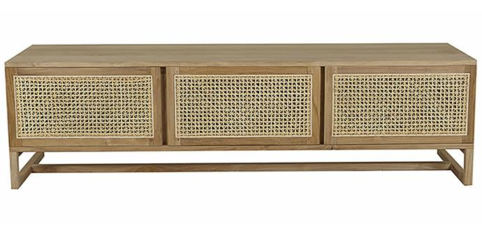 "Willow woven entertainment unit, $2,760.00, at [Globe West](https://www.globewest.com.au/browse/willow-woven-entertainment-unit|target=""_blank""