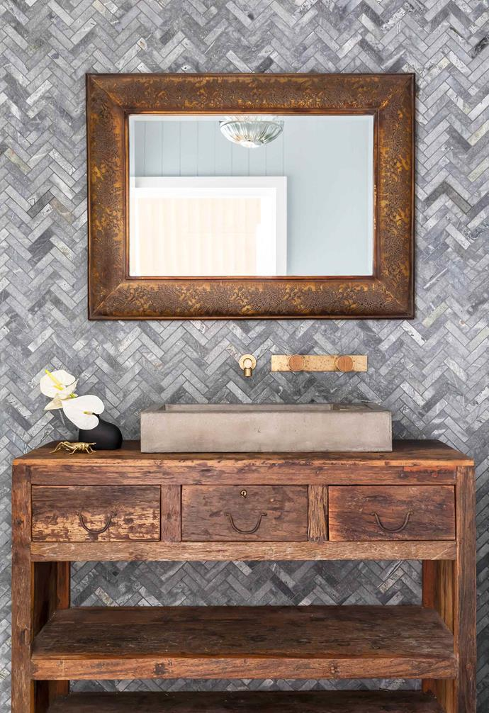 "**Bathroom** A rustic timber vanity from [Smithmade](https://www.smithmade.com.au/|target=""_blank""