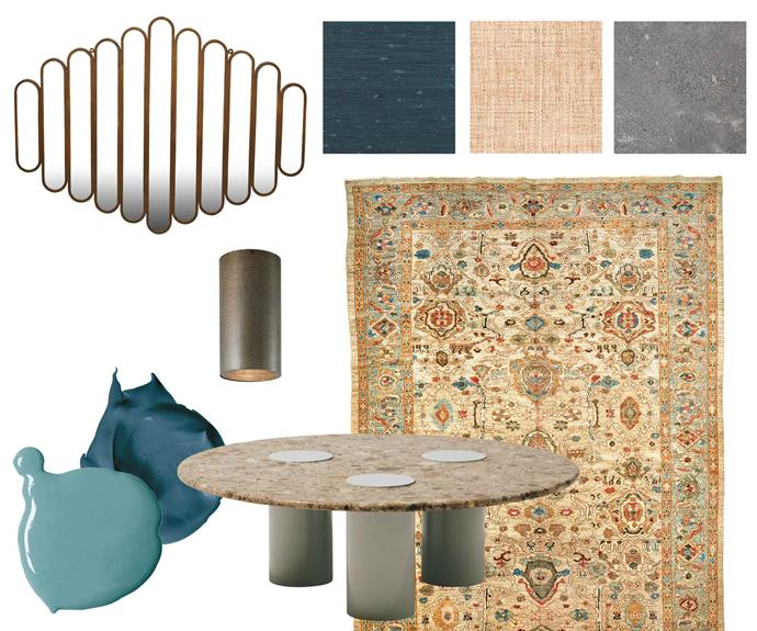 "**Get the look** Vionnet panel mirror, $980, [GlobeWest](https://www.globewest.com.au/|target=""_blank""