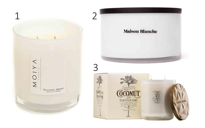 "1. 'Nouveau depart' **candle**, $29.95, from [Moiya Scents](https://moiyascents.com.au/collections/light-my-soul-medium/products/nouveau-depart-1|target=""_blank""