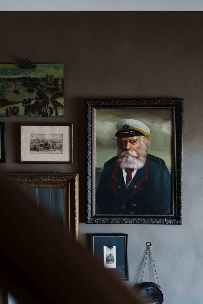 Kerry found this portrait of a sea captain on eBay and today it hangs in the entrance hall.