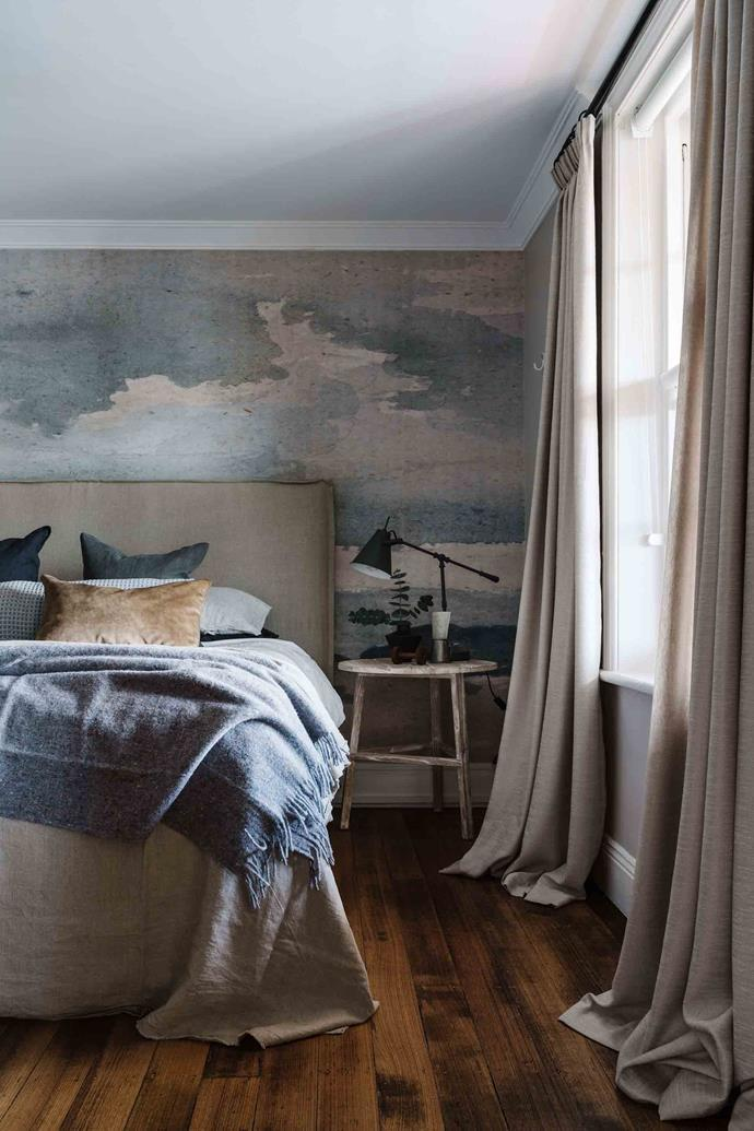 "Highfield is one of seven rooms at the Ship Inn, each with its own distinctive style. The Fine Art Cloud wallpaper is from [Anewall](https://anewall.com/|target=""_blank""