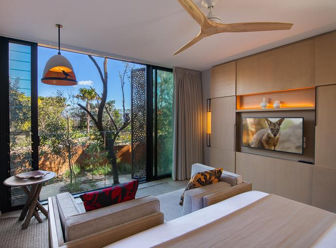 The 'Animal View' rooms offer views over the Wildlife Retreat's Sanctuary.