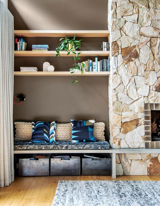 "Rustic textures imbue this [modern beach house](https://www.homestolove.com.au/modern-beach-house-6894|target=""_blank"") in South Australia's Port Willunga with warmth and comfort. The owners love the laidback vibe and easy liveability design studio Enoki has brought to the home."