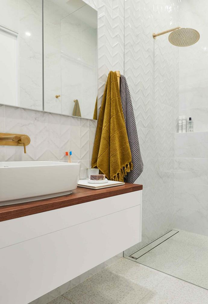 """**Week 4, Main Bathroom** Once again, instead of [presenting a main bathroom](https://www.homestolove.com.au/the-block-2019-main-bathroom-reveals-20604