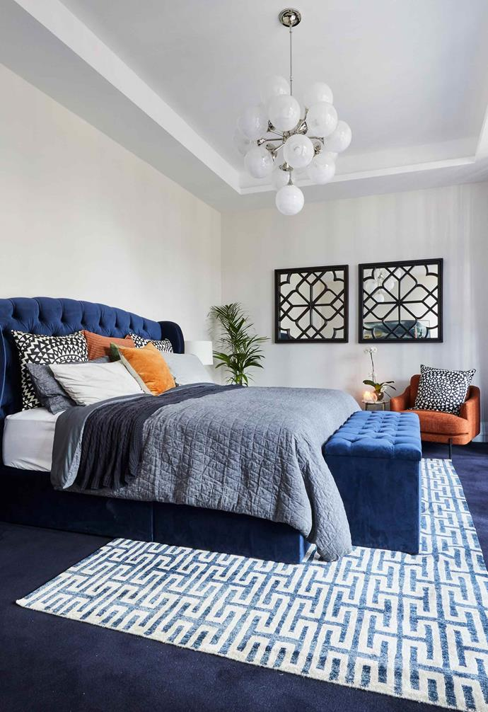 """**Week 5, Guest Bedroom** As part of their master plan, Mitch and Mark decided to transform the designated studio space in their house into the ultimate master bedroom. [Instead of presenting a guest bedroom](https://www.homestolove.com.au/the-block-2019-all-star-bedroom-reveals-20626