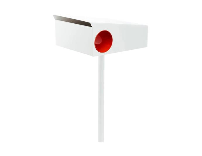 """Cove Colorbond letterbox, $485, at [Arko](https://www.arkofurniture.com.au/products/cove-letterbox?variant=261349900332