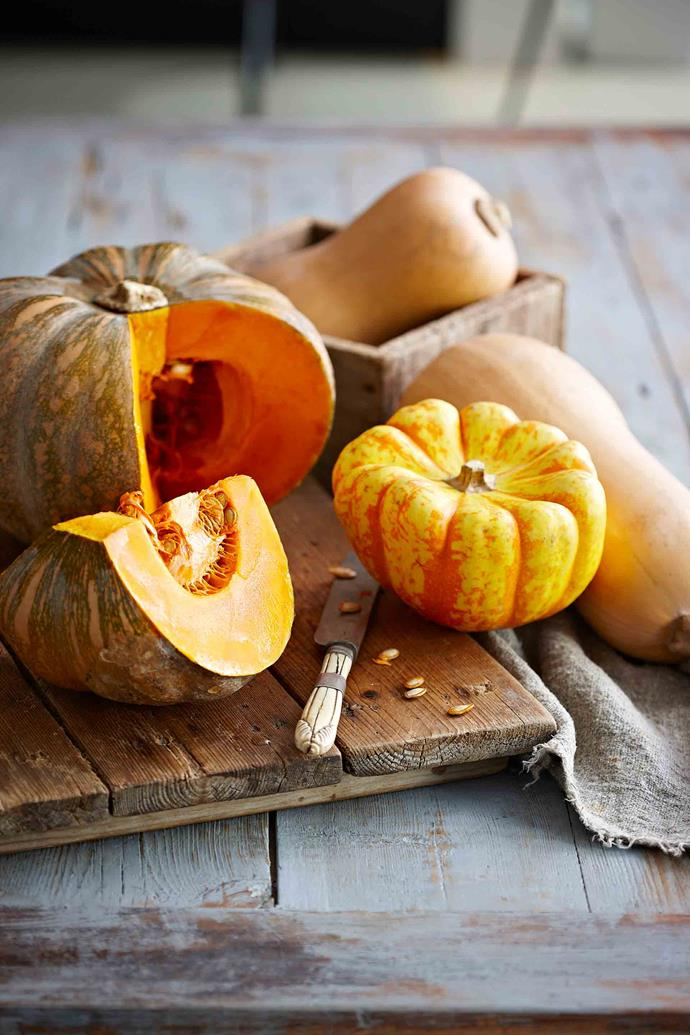 Once a pumpkin has been cut, remove the seeds and store in an airtight container in the fridge.