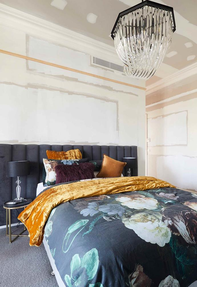 """**Week 1, Guest Bedroom** El'ise and Matt began *The Block 2019* with a rocky start as one of the three teams who [failed to deliver a completed guest bedroom in week one](https://www.homestolove.com.au/the-block-2019-guest-bedroom-reveal-20531