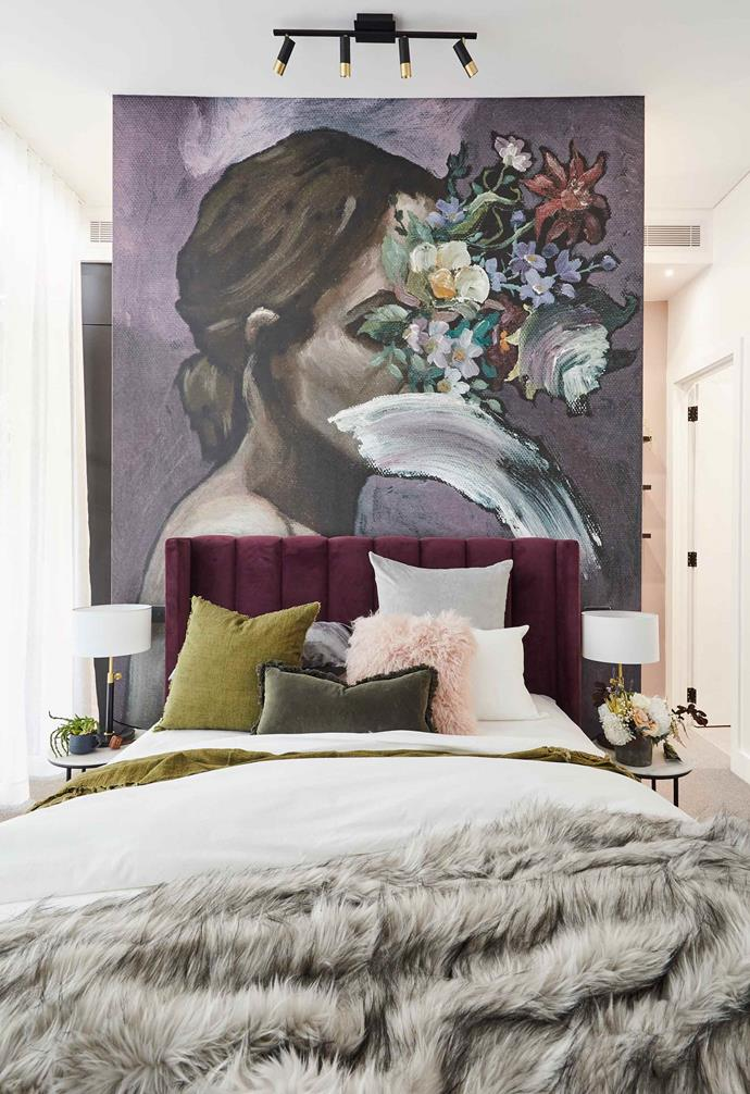 """**Week 5, Guest Bedroom** El'ise and Matt teamed up with Block alumni Ronnie and Georgia during [all-stars week](https://www.homestolove.com.au/the-block-2019-all-star-bedroom-reveals-20626