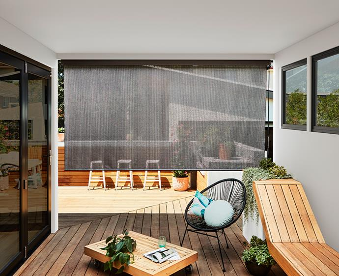 Blinds and awnings are an essential element in creating an all-season outdoor area.