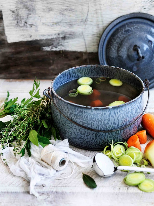 "<P>**HOMEMADE CHICKEN STOCK**<p> <P>Speak to any good cook and they'll tell you homemade stock is a must. ""I just can't cook without a good stock, and a chook stock is the one I use most of all,"" says Maggie. To make Maggie's chicken stock, you'll need to start with a good-quality boiling chicken and an array of fresh vegetables.<P> <p>**Get the recipe for [Maggie Beer's recipe for homemade chicken stock](https://www.homestolove.com.au/maggie-beers-chicken-stock-11913