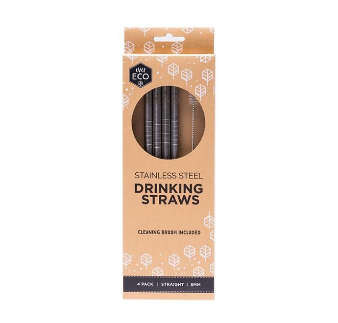 "EVER ECO stainless steel straws $16.95/4 pack, at [Ecostore](https://evereco.com.au/collections/straws/products/stainless-steel-straws-straight-4-pack|target=""_blank""