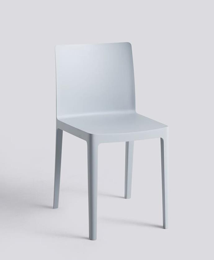 """Hay chair by Ronan and Erwan Bouroullec, $256 at [HAY](https://hayshop.com.au/products/elementaire-chair-1?_pos=2&_sid=3b51ddaef&_ss=r