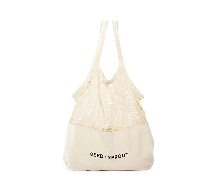 """Mixed mesh tote, $29, at [Seed & Sprout](https://seedsprout.com.au/collections/bags/products/mixed-mesh-tote