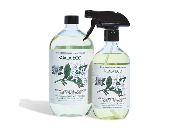"""Multi-Purpose kitchen cleaner, $11.95, [Koala Eco](https://koala.eco/collections/all-products/products/eco-friendly-multi-purpose-kitchen-lemon-myrtle-500g