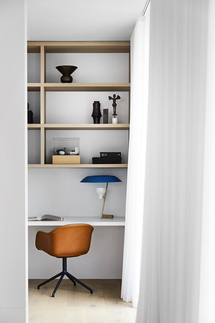 """Open shelving in the [study nook](https://www.homestolove.com.au/12-creative-ways-to-create-a-study-nook-in-your-home-17963