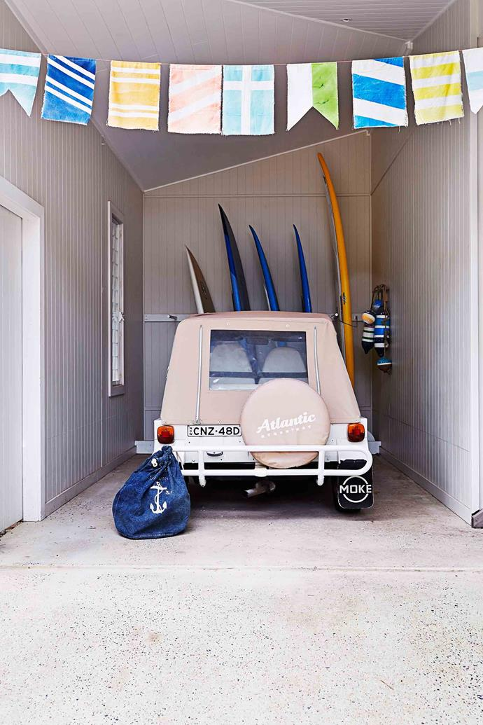 Create zones in your garage where like items are grouped together.