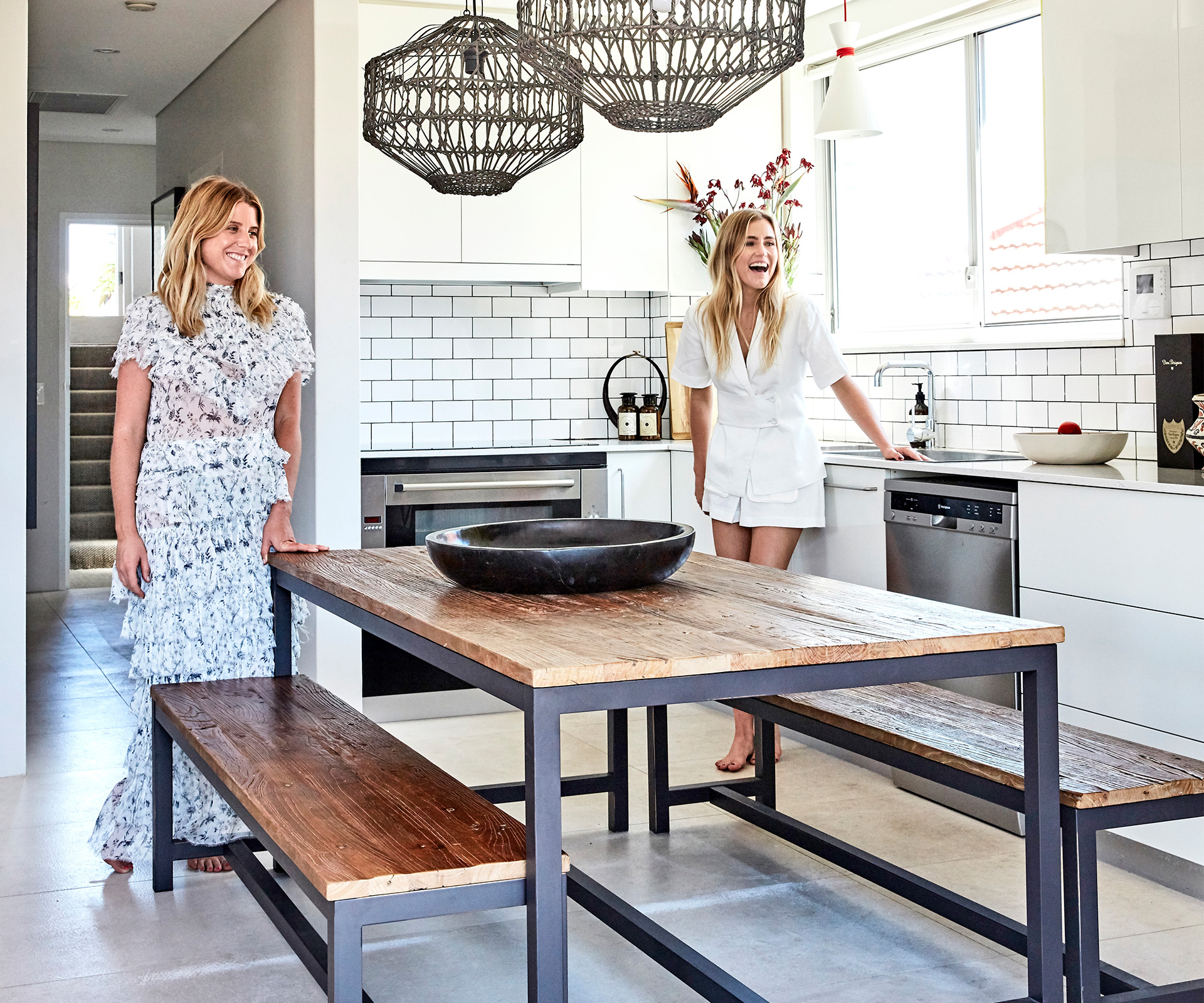 At home with SIR The Label co-founders Nikki and Sophie