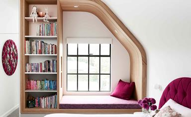 A clever attic conversion resulted in two incredible kid's bedrooms
