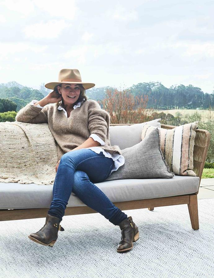 Michelle Bridges at her holiday home in the Southern Highlands.