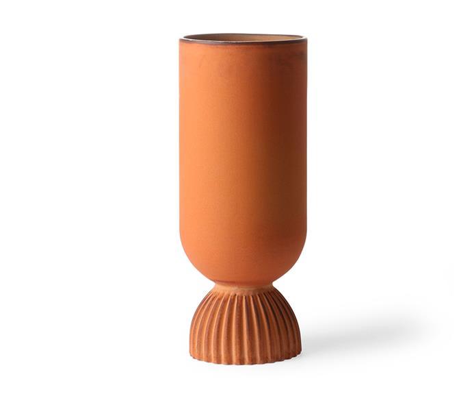 "Flower vase by HK Living, $99, [House of Orange](https://www.houseoforange.com.au/|target=""_blank""|rel=""nofollow"")."
