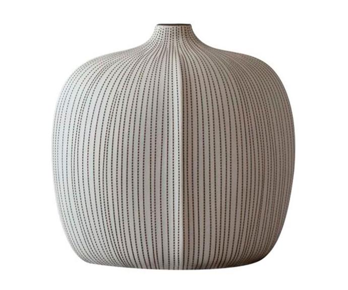 """Small Verti vase in chalk/cocoa, $99, [Curious Grace](https://curiousgrace.com.au/