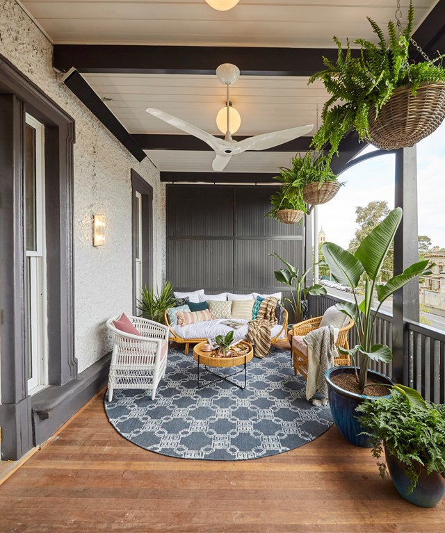"""**Week 11, Verandahs** """"It somewhere where you live life,"""" said Neale of Mitch and Mark's Level 2 [verandah](https://www.homestolove.com.au/the-block-2019-verandahs-20772