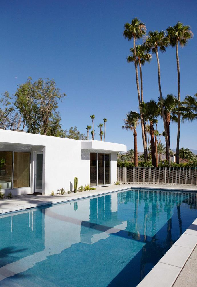 No Palm Springs-style house is complete without a luxurious pool and this one in Napoleon Perdis's Palm springs home is no exception.